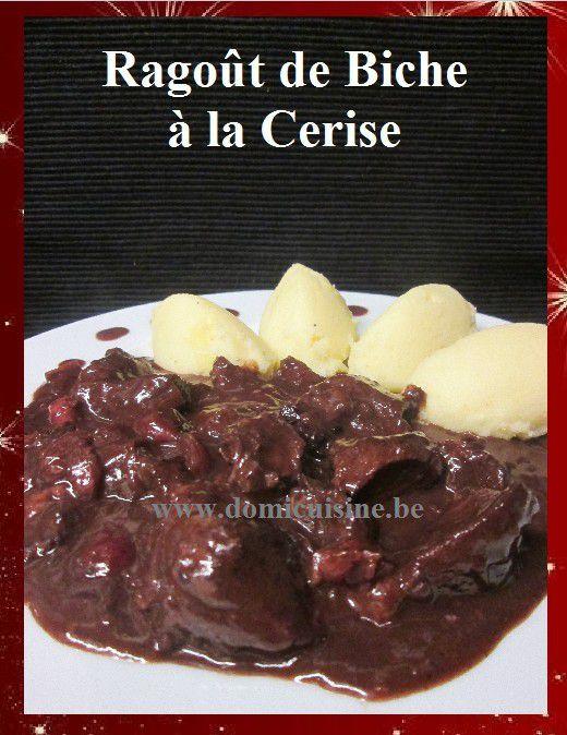 Ragoût de Biche Caramélisé aux Fruits Rouges ...