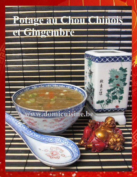 Nouvel An Chinois: Potage au Chou Chinois et Gingembre ...