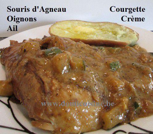 Pâques: Souris d'Agneau Confite aux Courgettes ...