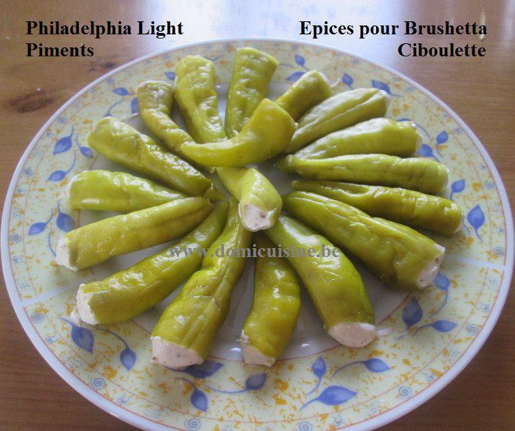 ww: Piments Verts Farcis au Philadelphia Epicé ...