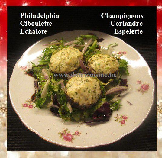 Cuisine de Fête: Champignons Farcis aux Herbes et Philadelphia ...