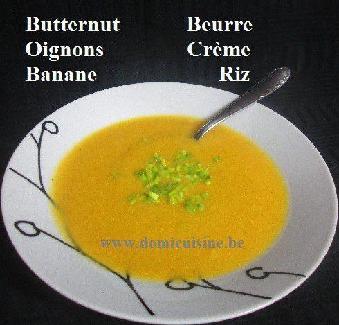 Velouté de Courge Butternut à la Banane ...