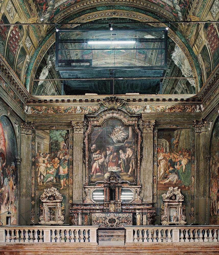 Un cabinet d'architecte dans une église