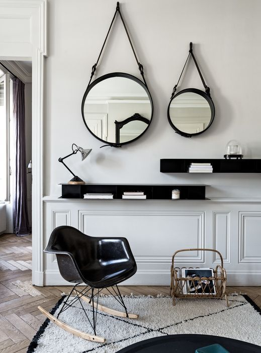 un miroir dans le salon les 3 tendances suivre a part a. Black Bedroom Furniture Sets. Home Design Ideas