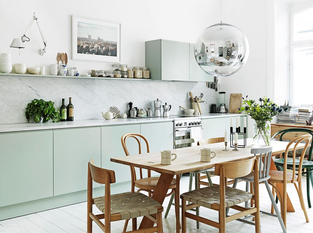 Du vert tilleul pour la cuisine a part a for Overblog cuisine