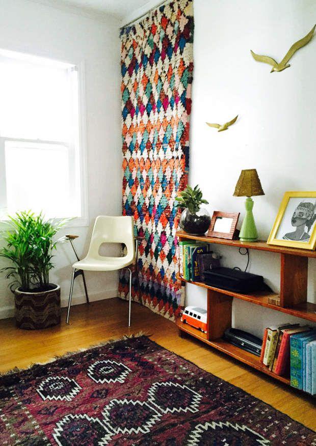 Un intérieur coloré, moderne et bohème