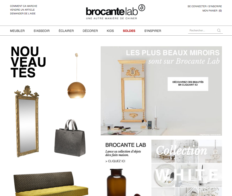 home challenge lesprit brocante with brocantlab. Black Bedroom Furniture Sets. Home Design Ideas