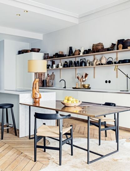 Quelle table pour une cuisine avec ilot central a part a - Taille cuisine avec ilot central ...