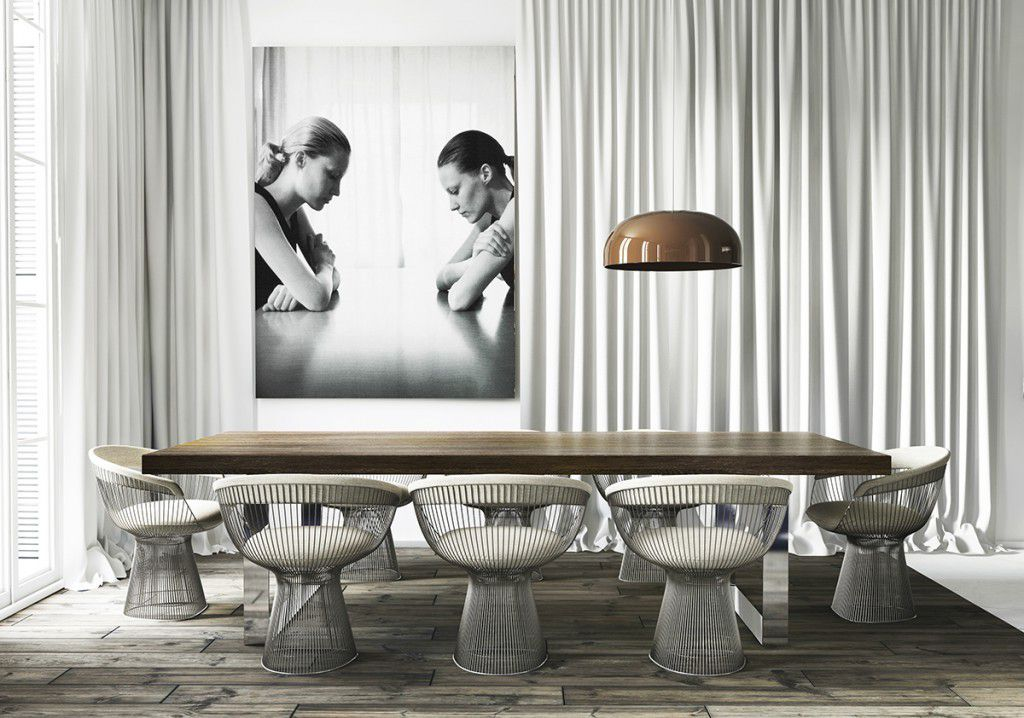 Un appartement en blanc et noir à Barcelone