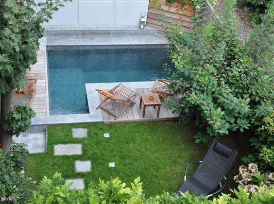 Cinq options pour am nager les abords d 39 une petite piscine a part a - Petite piscine design ...