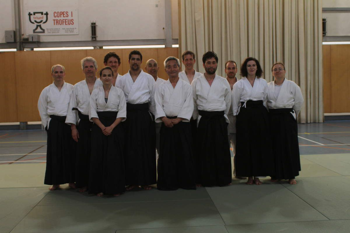 STAGE MATARO : PHOTO AVEC LE SENSEI