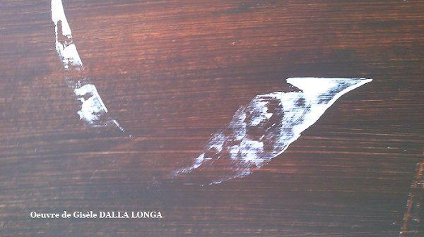 """""""Surface """"  Détail (416)  de l'oeuvre  """" Discrétion """"  244 C  Acrylique 2015  Oeuvre de Gisèle DALLA LONGA"""