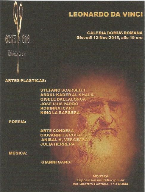 """EXPOSITION   """" LEONARD DA VINCI """"  à ROME   Italie  Présentation des artistes"""