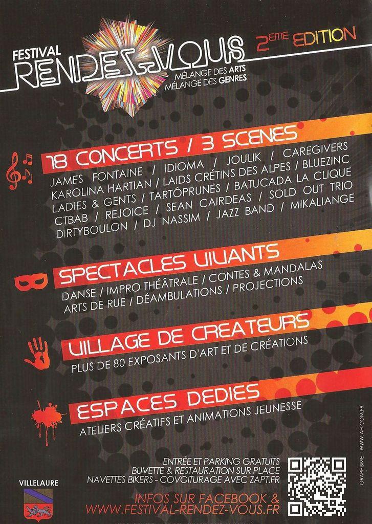 Samedi 19 septembre 2015 Villelaure 2eme festival Rendez Vous parc du chateau mélange des ARTS &amp&#x3B; des GENRES