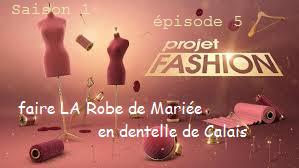 créer avec 20m de dentelle de Calais une robe de Mariée en 24 h.