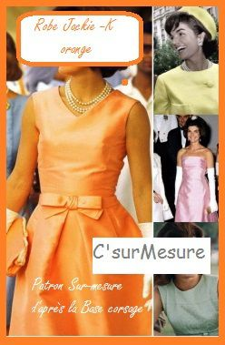 la mytique petite robe orange de Jackie Kennedy.