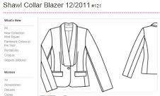 Sos : Shawl collar blazer 12/2011 #121, quelqu'un aurai (pour un coup, c'est moi qui demande ) = photocopie de : plan de coupe où les pièces patron à m'envoyer ? Merci.