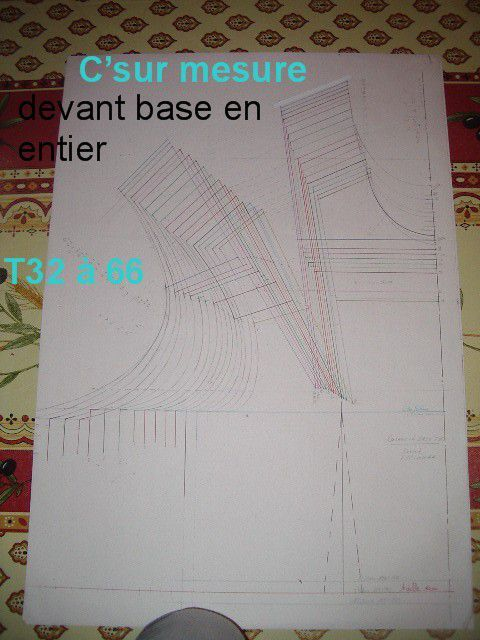 exemple d'une gradation totale (corsage de base).