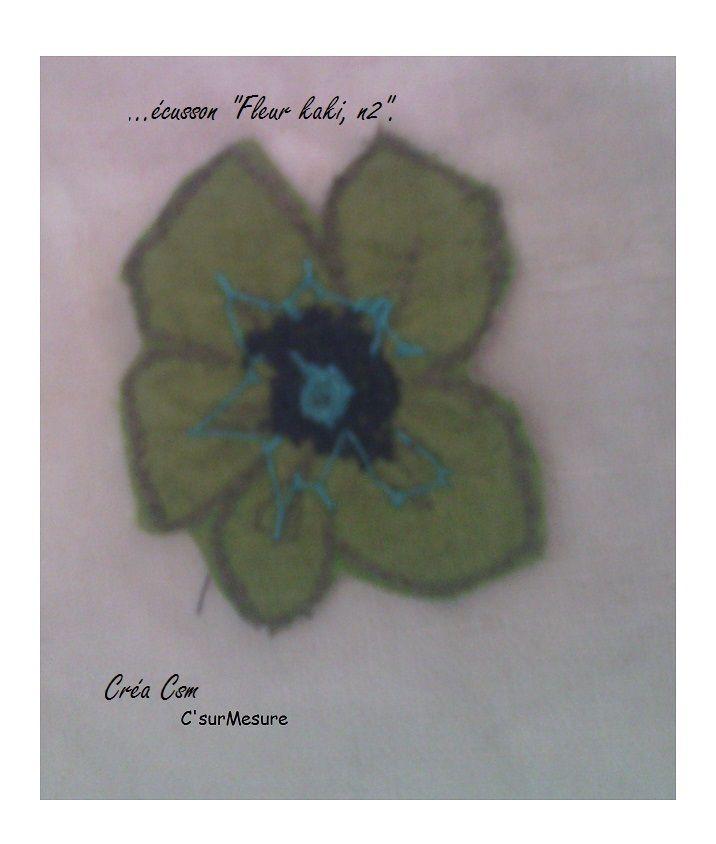 pour l'appliquer mettre du double face sur l'envers de la fleur  et coller au fer.