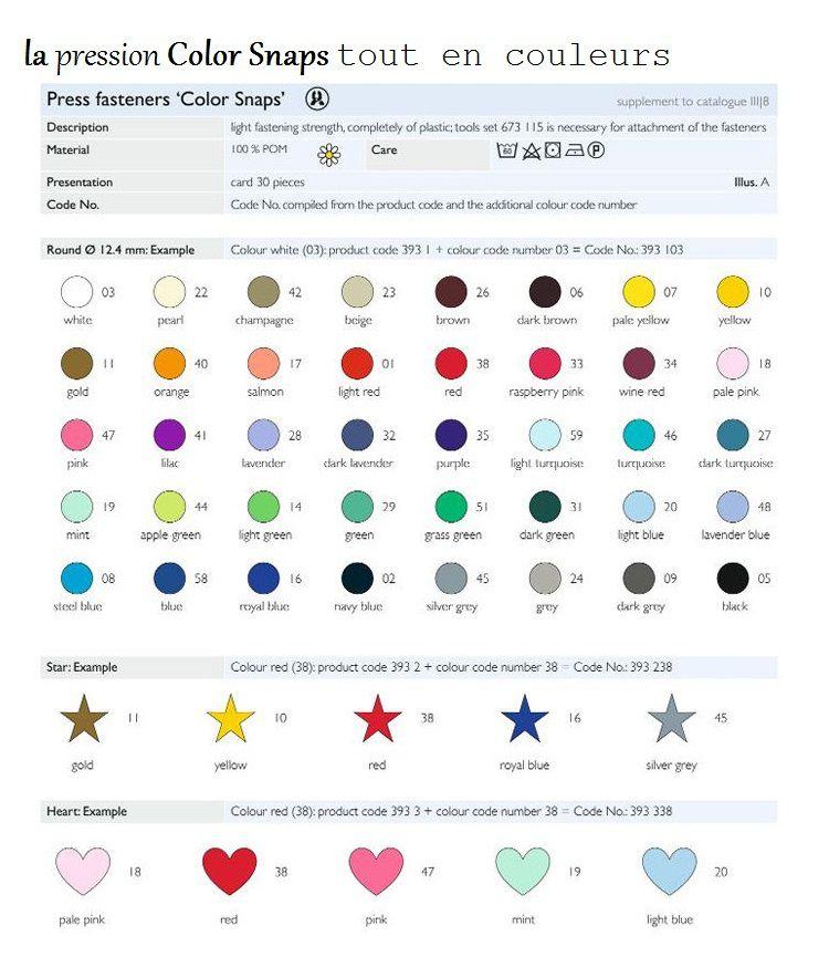 de chez Prym, differents modèles et couleurs...