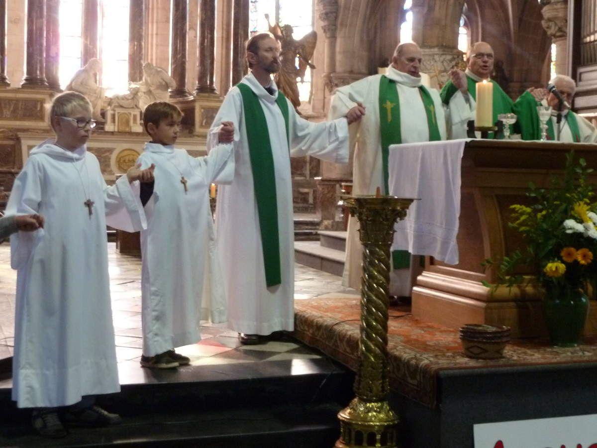 Messe de rentrée 2015 avec le Père Cyrille de Nanteuil le 20 09 2015