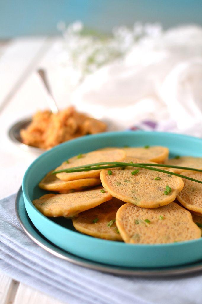 Mini-pancakes apéritifs aux légumes &amp&#x3B; épices