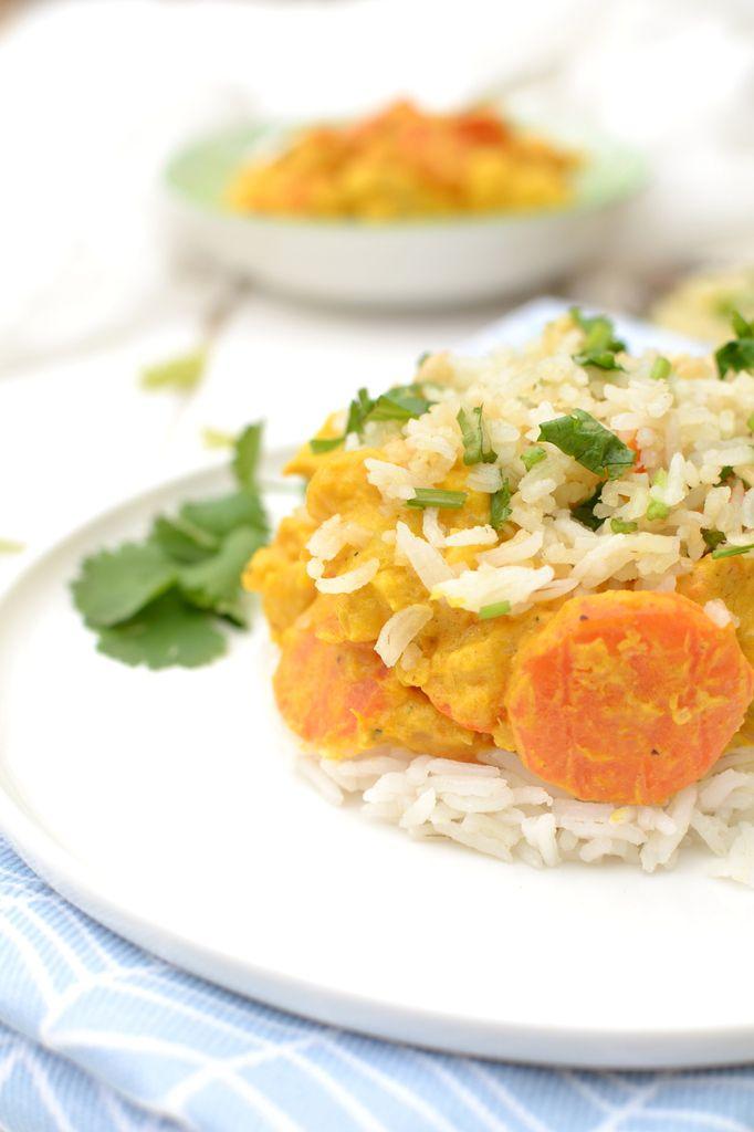 Curry de légumes d'automne, crumble croustillant de riz aux noix de cajou Battle Tilda