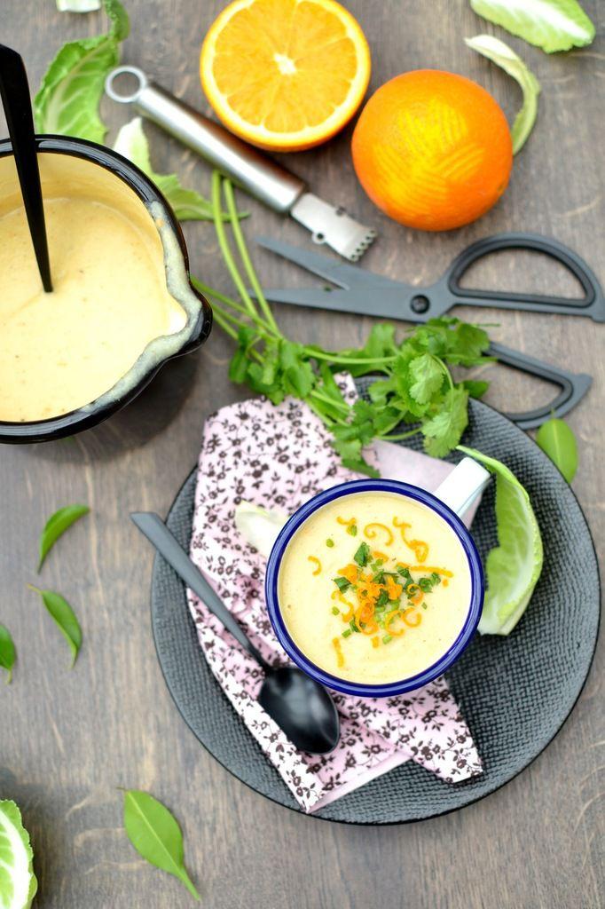 Velouté de chou-fleur rôti parfumé à l'orange