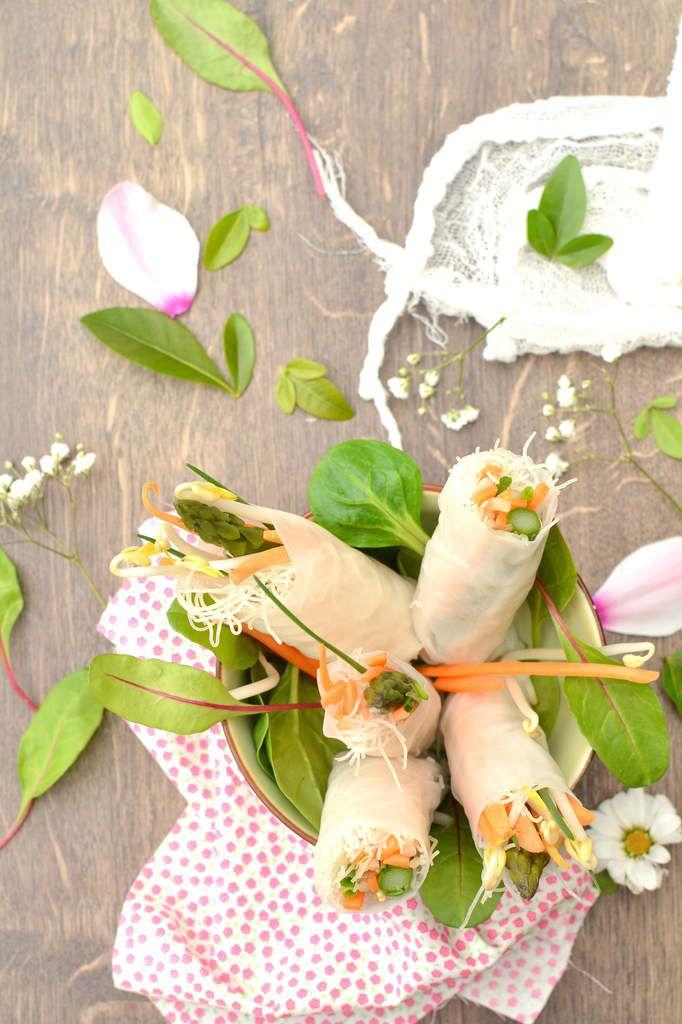 Rouleaux de printemps aux asperges vertes