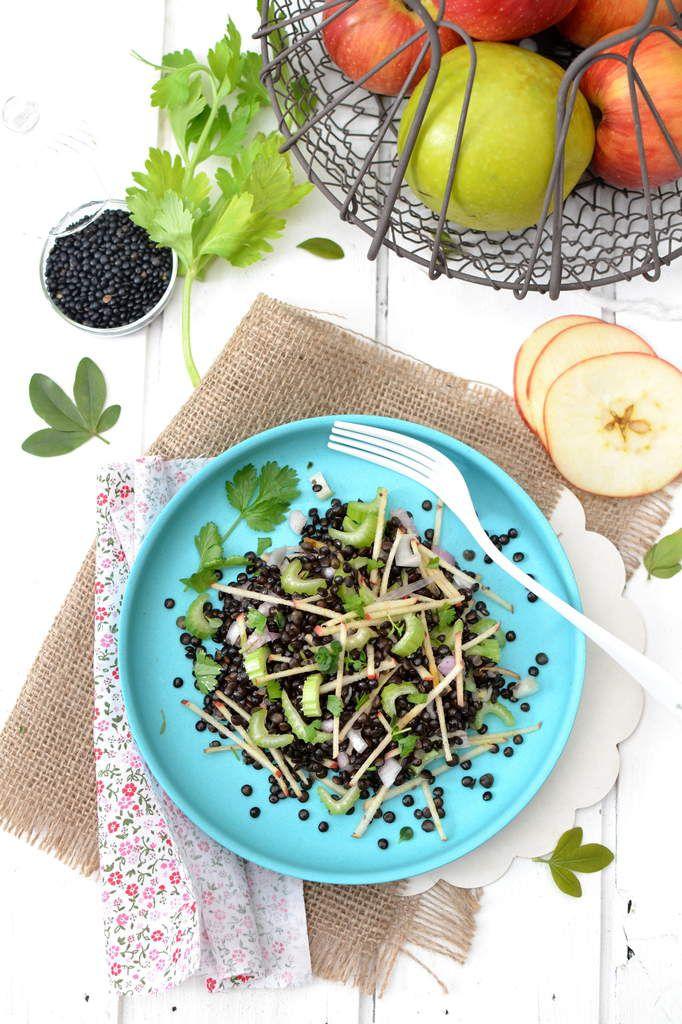 Salade de lentilles beluga ~ céleri branche ~ pomme...