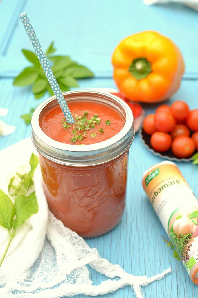 gaspacho soupe froide poivron tomate les recettes de juliette. Black Bedroom Furniture Sets. Home Design Ideas
