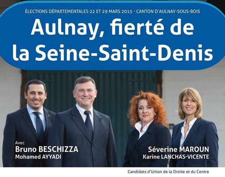 Résultats 1er tour élections départementales 2015 à Aulnay-sous-Bois