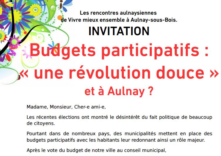 Soirée débat autour des budgets participatifs à Aulnay-sous-Bois