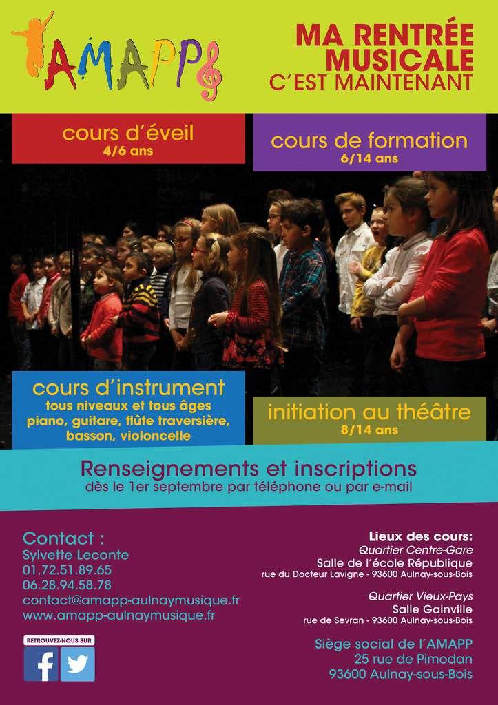 L'AMAPP fait sa rentrée 2015 musicale et théâtrale à Aulnay-sous-Bois !