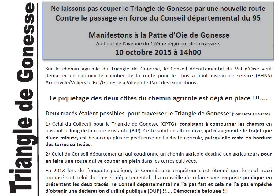 Manifestation contre le centre commercial EuropaCity de Gonesse le 10 octobre 2015