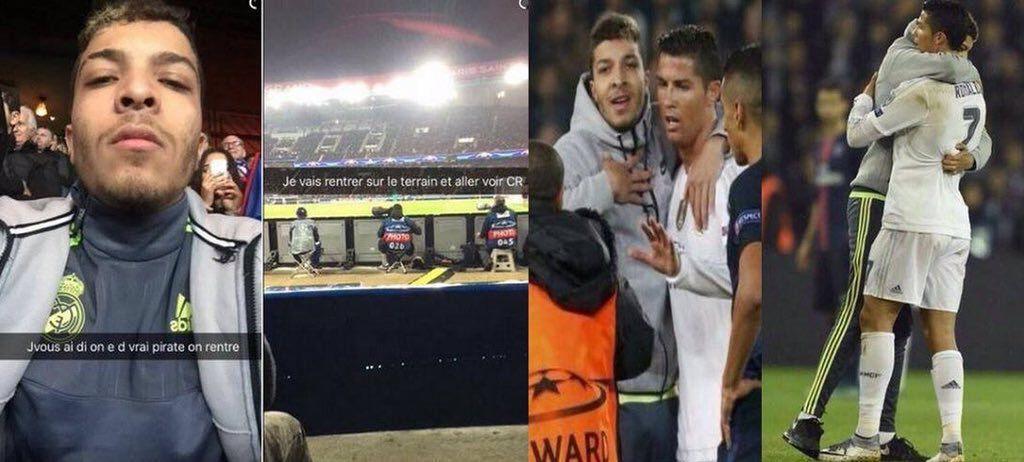 Vidéo. Cristiano Ronaldo enlacé par un jeune des 3000 à Aulnay-sous-Bois en plein match Paris SG - Real Madrid