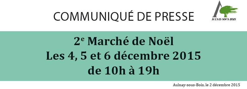 Le marché de Noël 2015 à Aulnay-sous-Bois c'est maintenant !