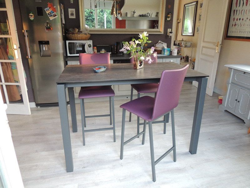 Les tables en ceramique exodia home design tables - Fabriquer table haute cuisine ...