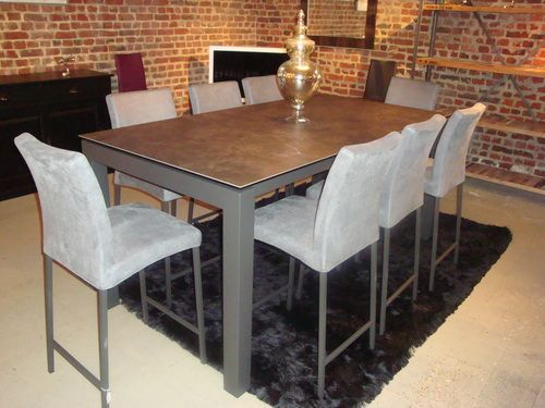 Table ceramique enix exodia home design tables ceramique canapes salons tissu et cuir - Table rectangulaire a rallonge ...