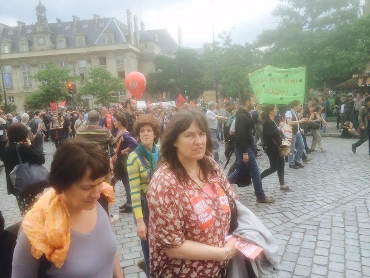 À la manifestation du 28 juin