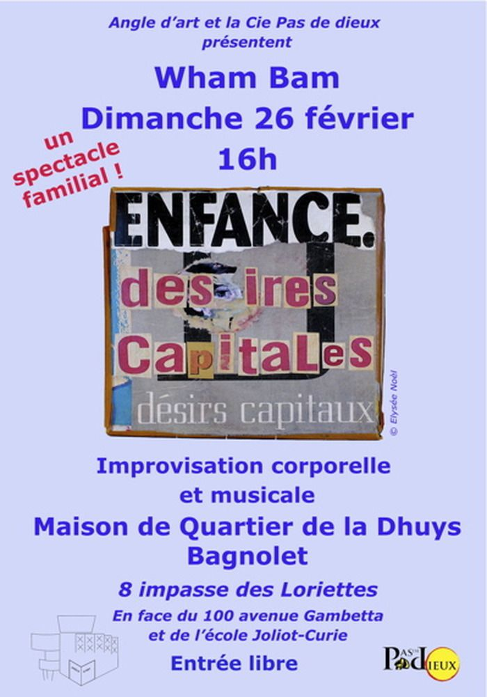 26 février 16 H, Maison de quartier de la Dhuys, spectacle d'improvisation