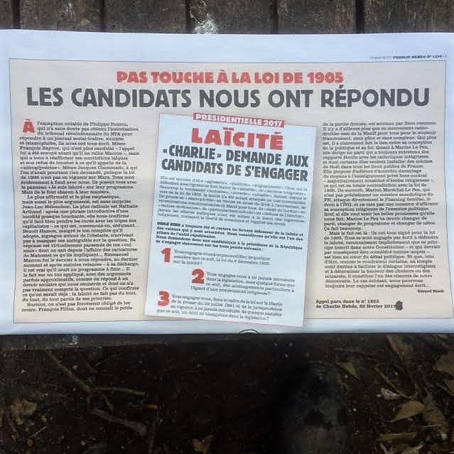 Laïcité et présidentielles: les candidatEs ont répondu à Charlie