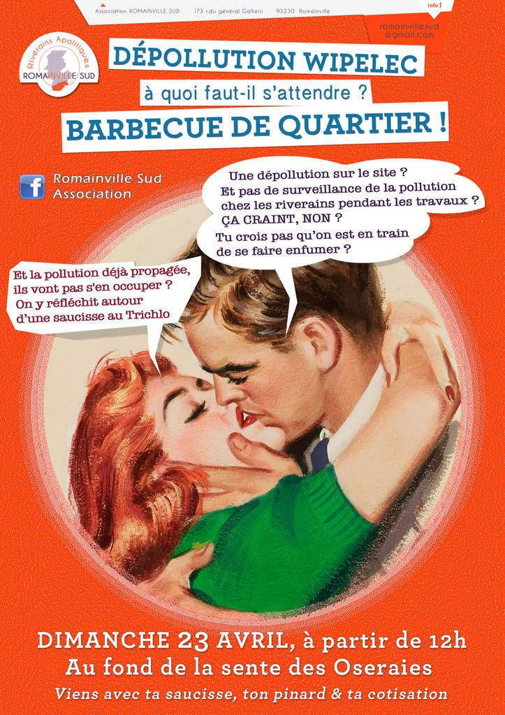 Romainville-pollution wippelec : barbecue du quartier des Ormes ce 23 avril