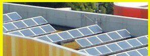 Le toits solaire de l'école J.-Cuie à Bagnolet