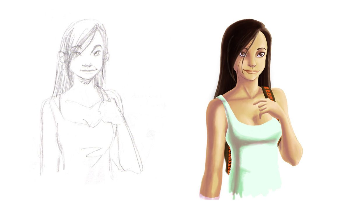 from sketch to colors