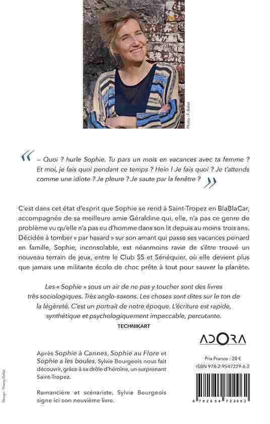 4ème de couverture de Sophie à Saint-Tropez