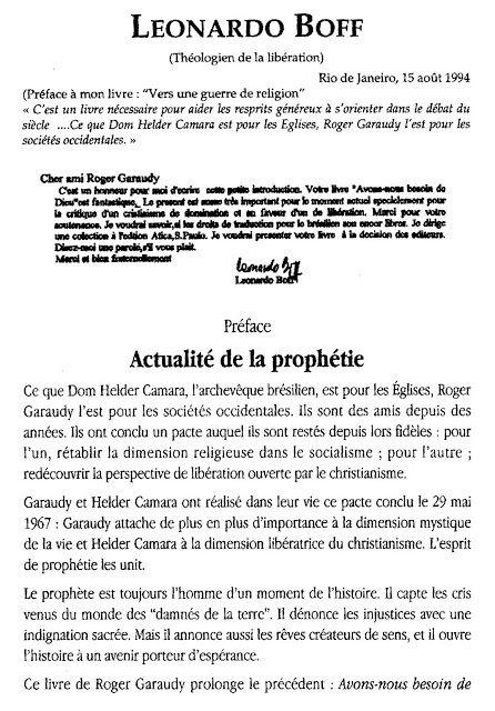 10-05-20- ACTUALITE DE LA PROPHETIE (LEONARDO BOFF)