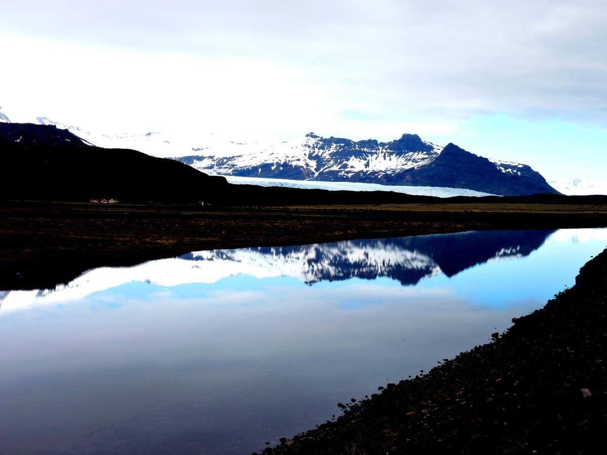 Paysages de  glacciers et lacs qui font le charme de l'Islande