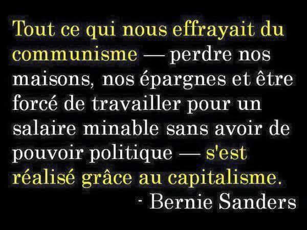 REFLEXION SUR LE COMMUNISME ET LE CAPITALISME DE BERNIE SANDERS