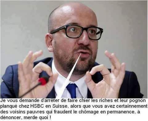 Il a confié la politique Belge à la N.VA, à présent avec la complicité mielleuse du CDH il voudrait que la Wallonoie suive le même chemin de perdition. Réveillons-nous ! (YB)